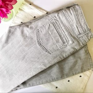 CAbi Light Wash Grey Jean Contemporary Fit 837R
